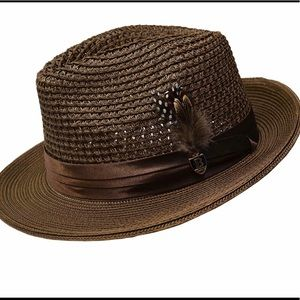 Bruno Capelo Fedora Brown Straw Summer Hat